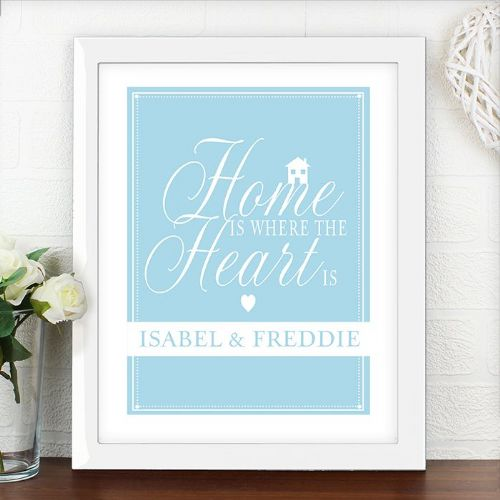 Personalised Home Is Where White Poster Frame